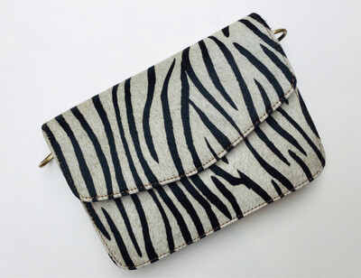 Leather And Ponyskin Small Handbag