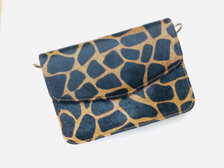 Leather And Animal Skin Small Handbag