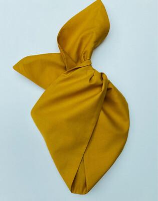 Mustard / Gold Plain Wired Hairband