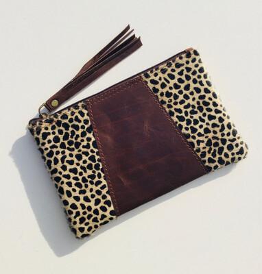 Animal / Leather Mini Clutch