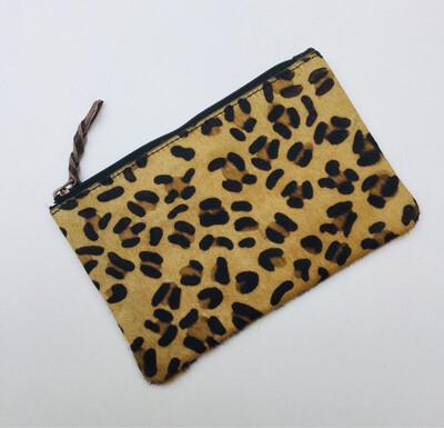Animal /leather Mini Clutch