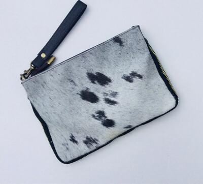 Animal Skin Zip Design Crossbody Bag