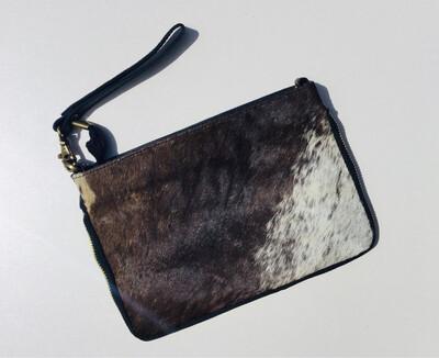Animal Skin ,zip Design Crossbody Bag