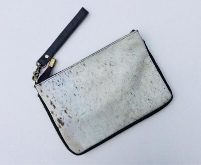 Animal Skin Zip Detail Crossbody Bag