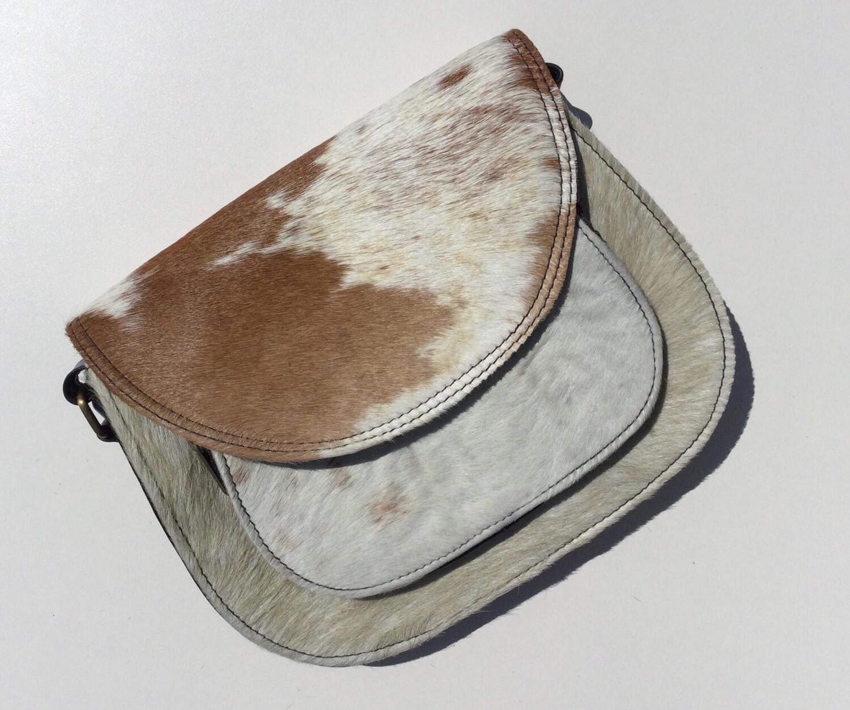 Animal Skin Saddle Bag