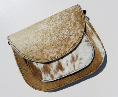 Animal Skin Saddle Crossbody Bag