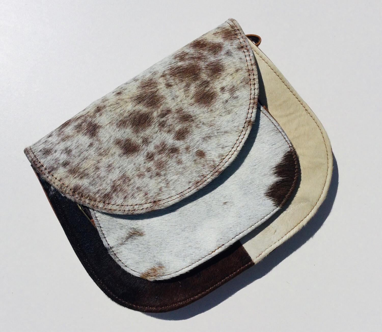 Animal Skin Crossbody Saddle Bag