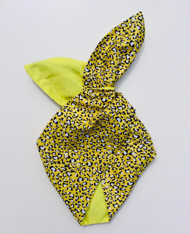 Pale Lemon Animal Design Wired Hairband
