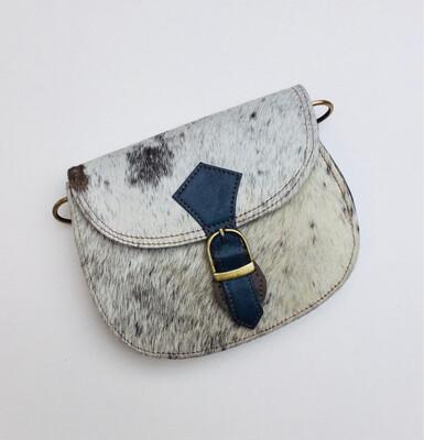 Small Animal Leather Crossbody Satchel