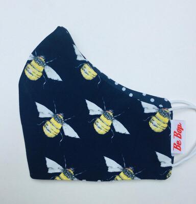 Navy Bumble Bee Face Mask