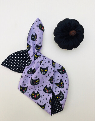 Little Girl Lilac Witches Cat Wired Hairband
