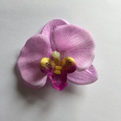 Mauve mini orchid hair clip
