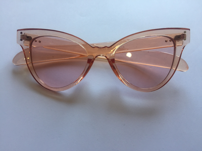 Pale pink sunglasses