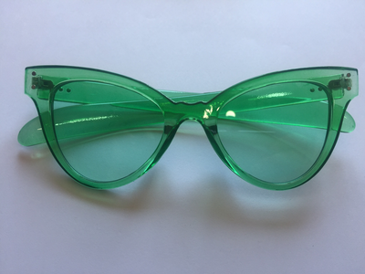 Green retro glasses