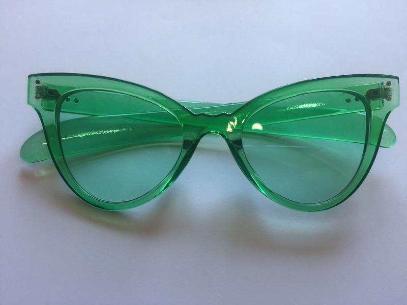 Green retro glasses