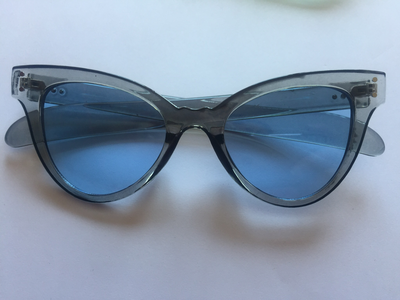 Blue retro sunglasses