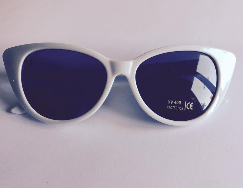 White Cats eye sunglasses