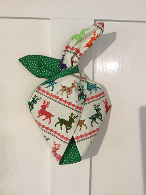 Bright reindeer with green stars
