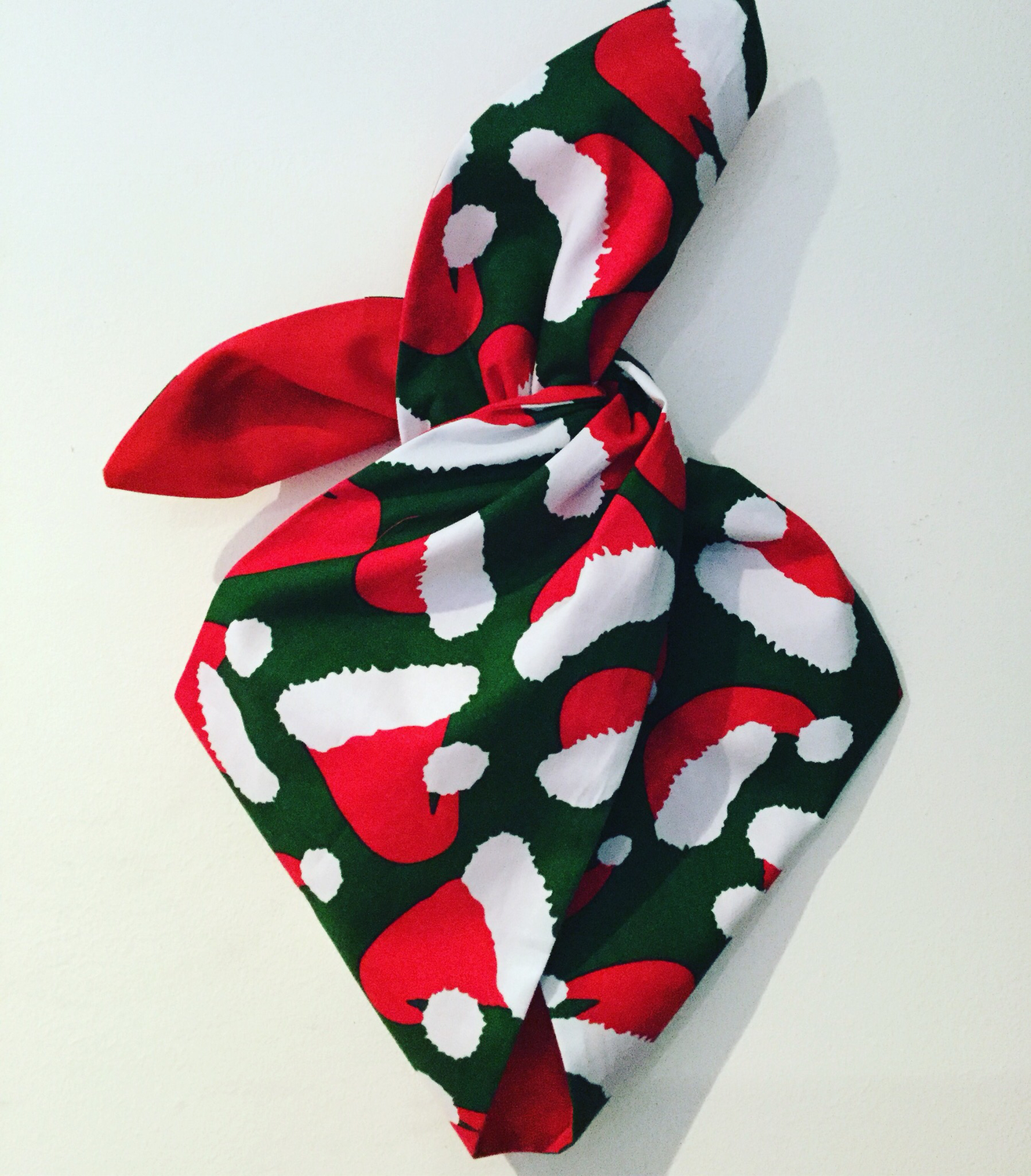 Santa baby in green and red wired hairband