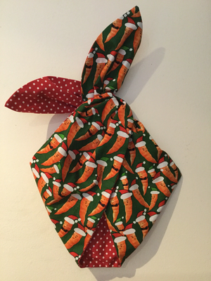 Christmas carrot wired hairband