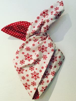 Snowflake wired hairband red and white