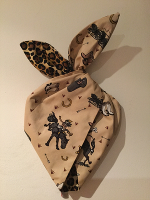 Cowboy and leopard wired hairband