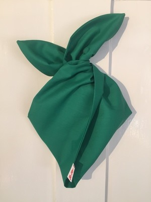 Plain green hairband