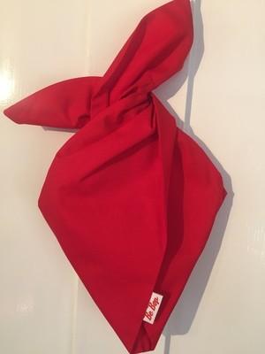 Plain red hairband