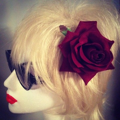 Wine rose hairflower.