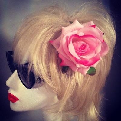 Pink Rose Hairflower