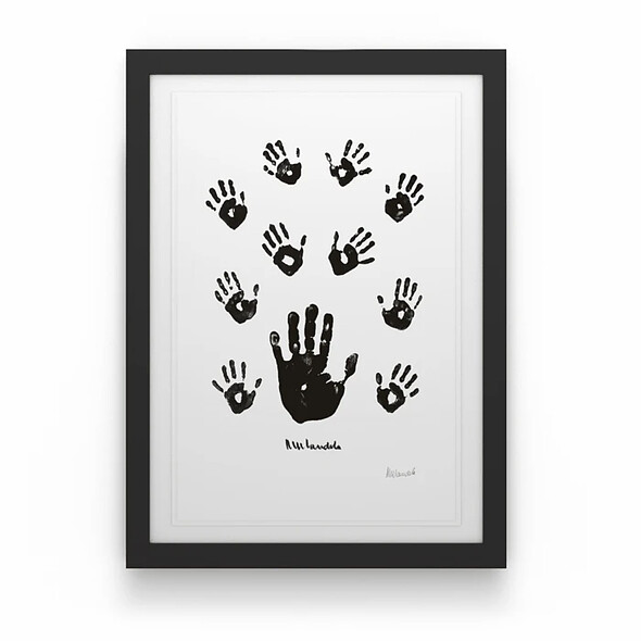 Black & White Left Hand with Children