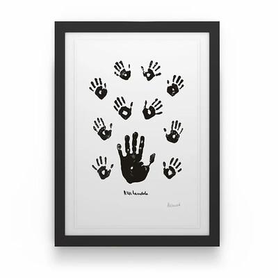 Black & White Left Hand with Children