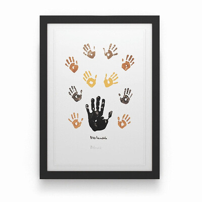 Coloured Left Hand with Children