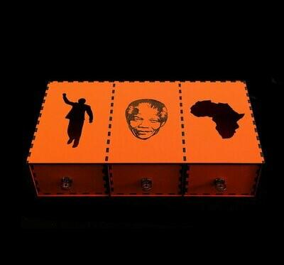 House Of Mandela 3 Shelf Jewel Boxes