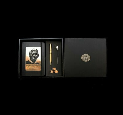 House of Mandela Diary with Pen and Key Ring – Gold Plated