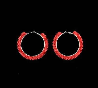 House Of Mandela Beaded Hoop Earings
