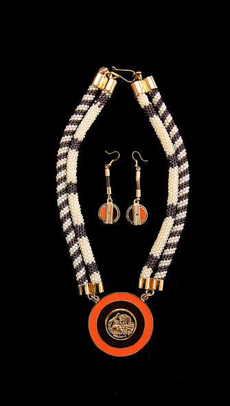 House of Mandela Double Strand Beaded Necklace Set