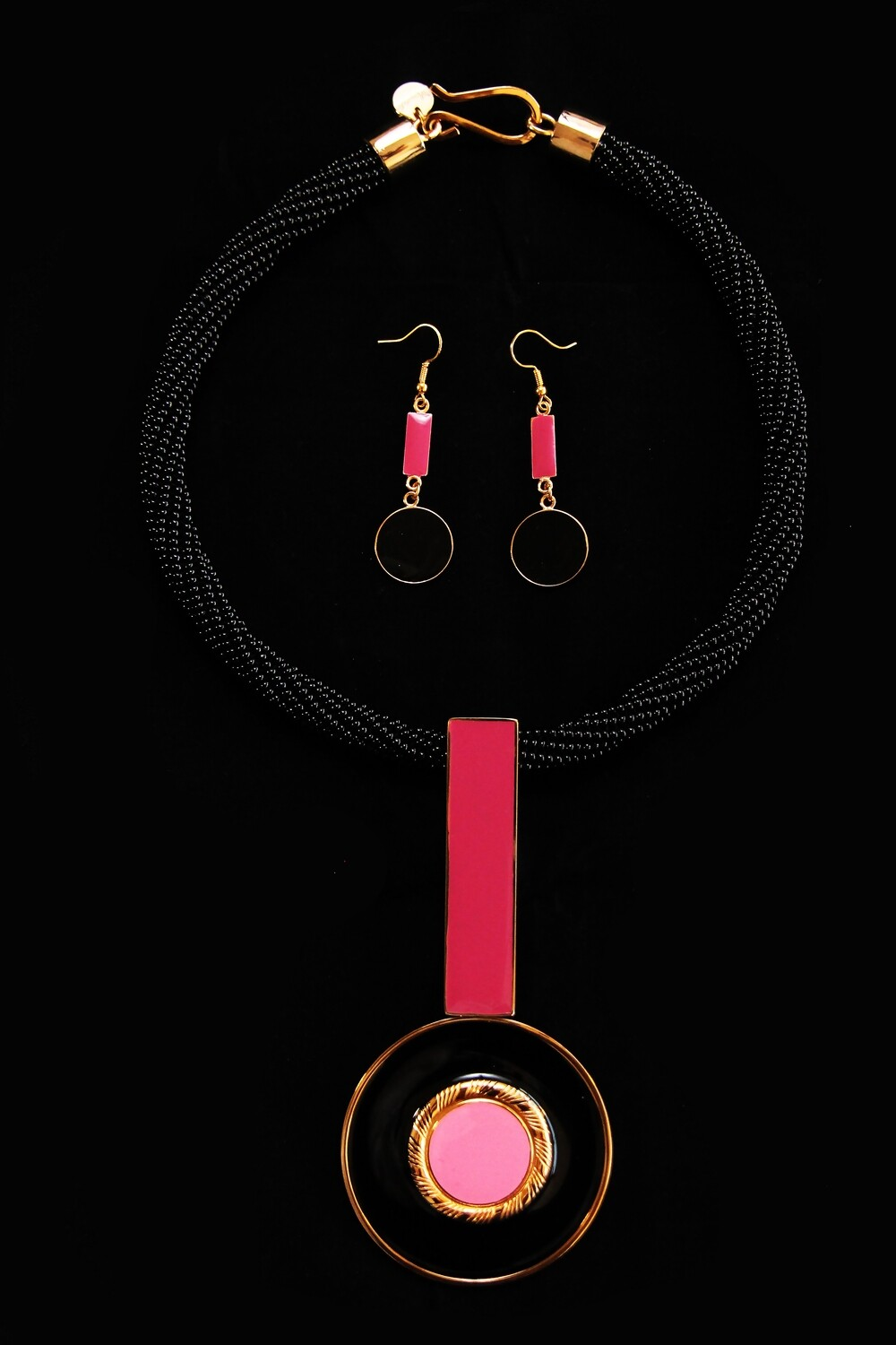 House of Mandela Art Deco Inspired Necklace with Matching Earrings