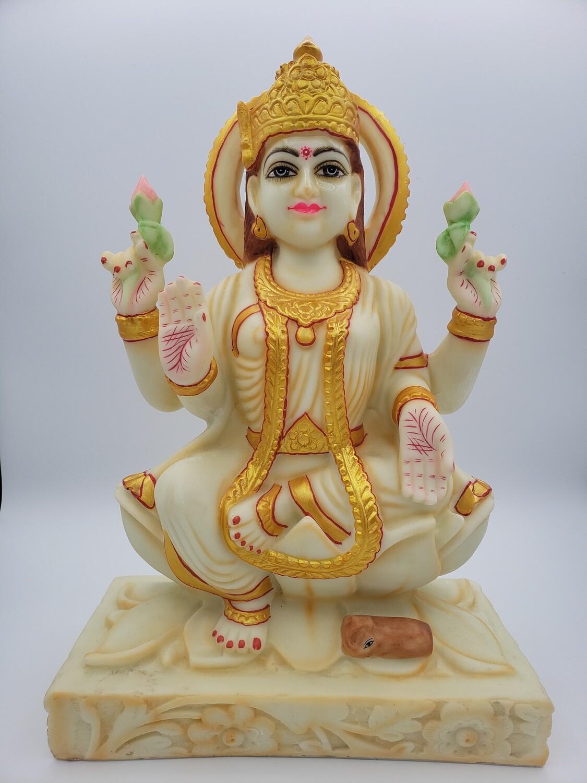 """Laxmi 15"""" Ivory & Gold"""