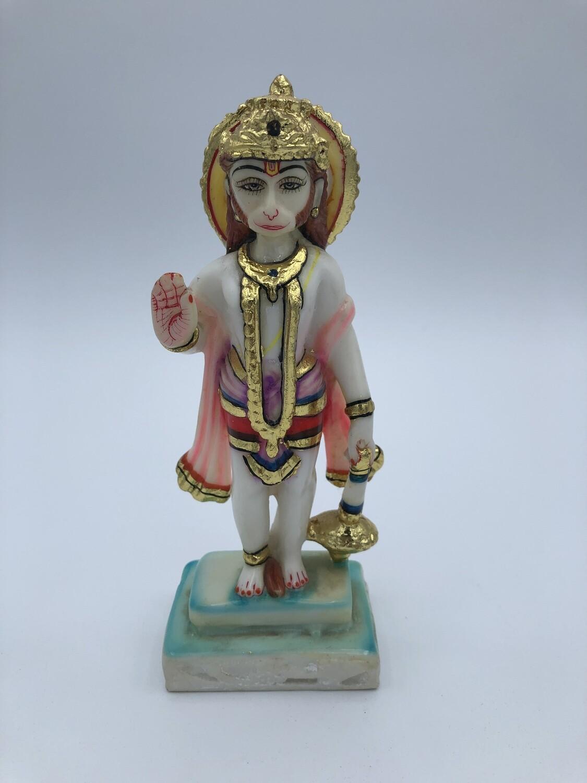 "Hanuman standing 7"" Gold Embossed"