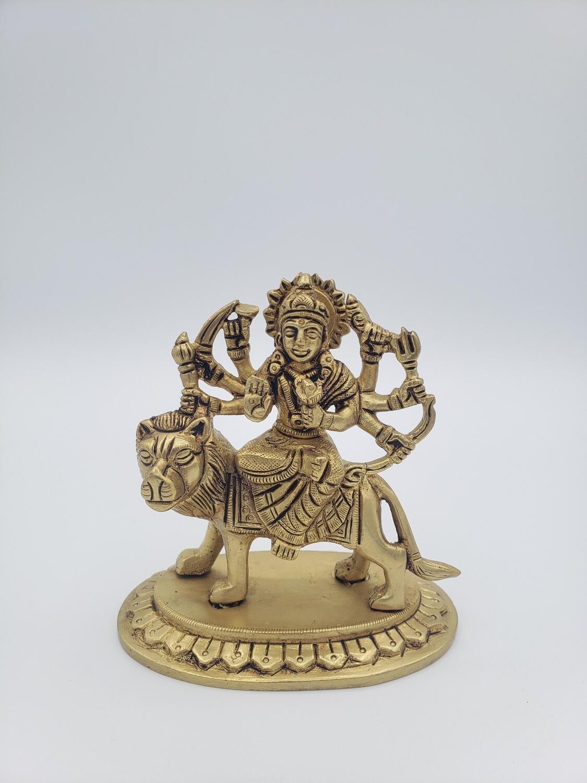 """Brass Durga Ma 4"""""""