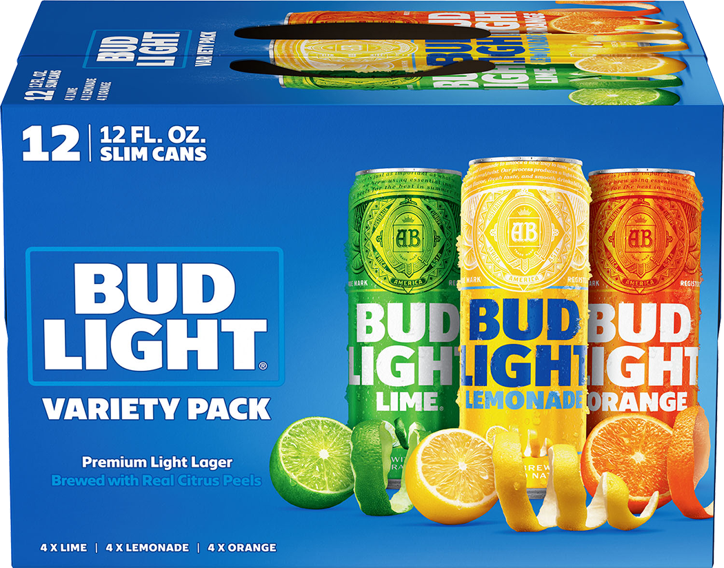 Bud Lt Real Citrus Peels Variety 12pk can