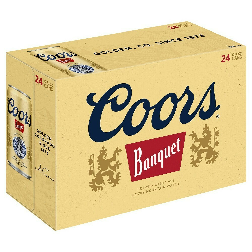 Coors Banquet 24pk can