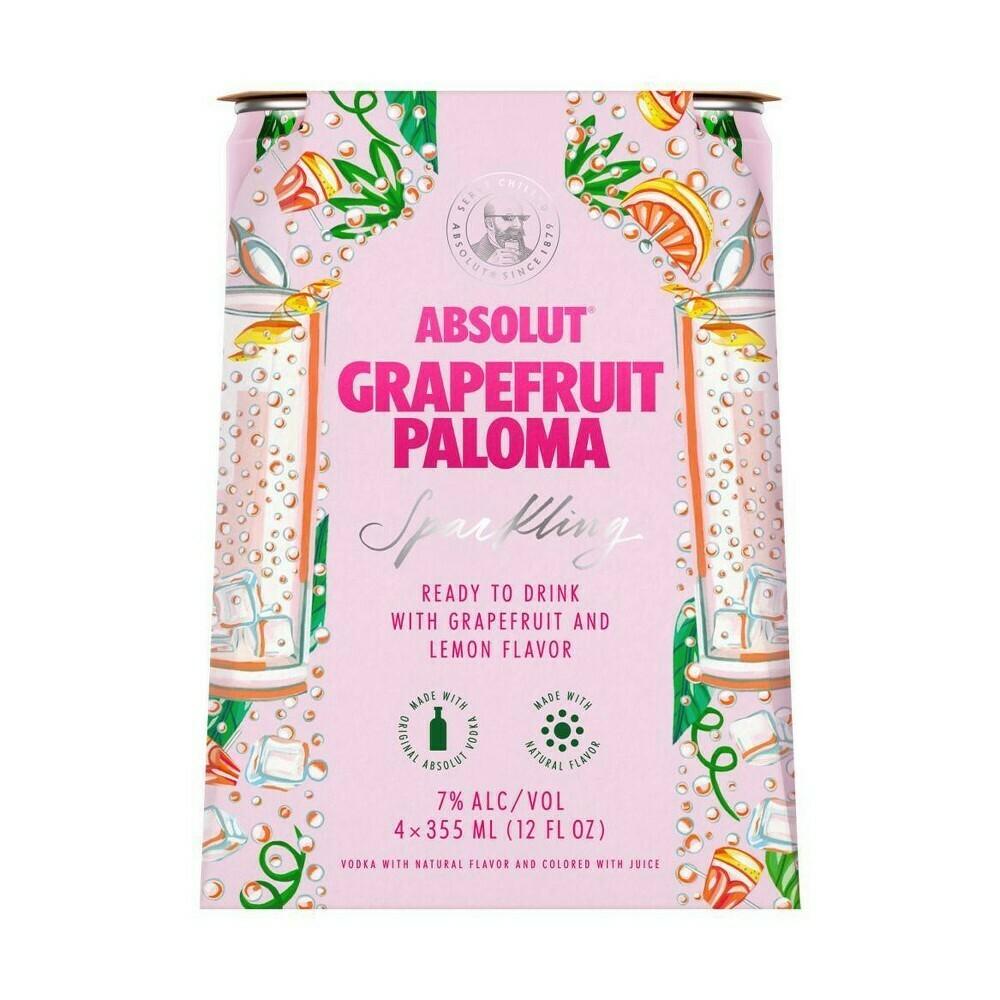Absolut Grapefruit Paloma 4pk 12oz Cans