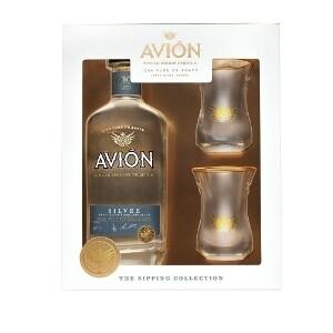 Avion Tequila 750mL w/Glasses