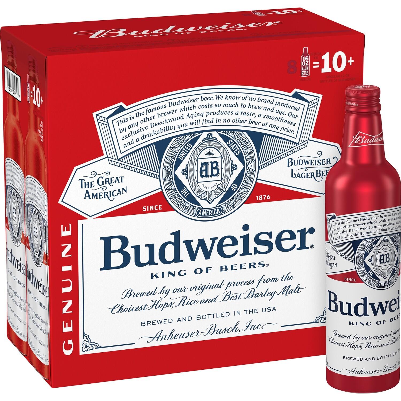 Bud 8pk alum btl