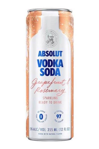 Absolut Grapefruit & Rosemary Sparkling Vodka Soda 4pk