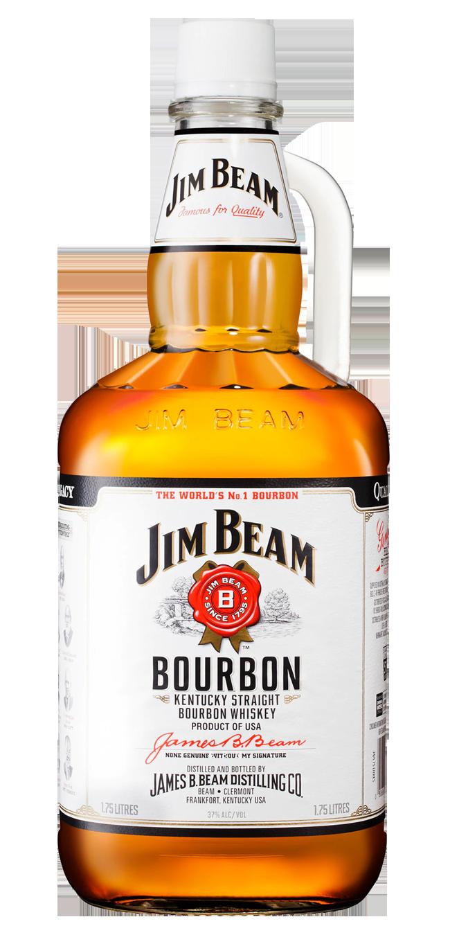 Jim Beam 1.75L glass