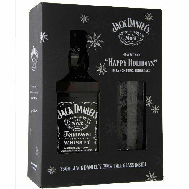 Jack Daniels Black 750mL Gift Set