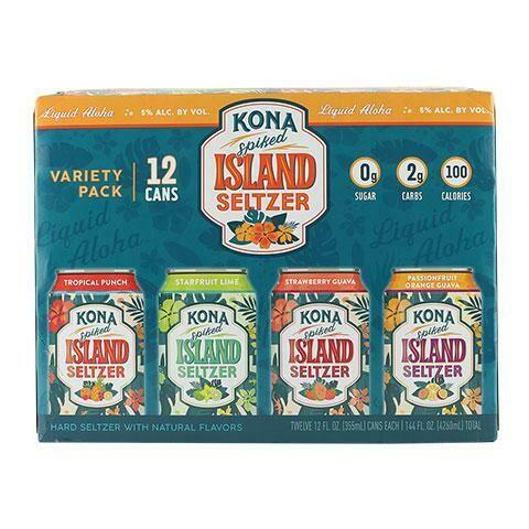Kona Spiked Island Seltzer Variety 12pk can